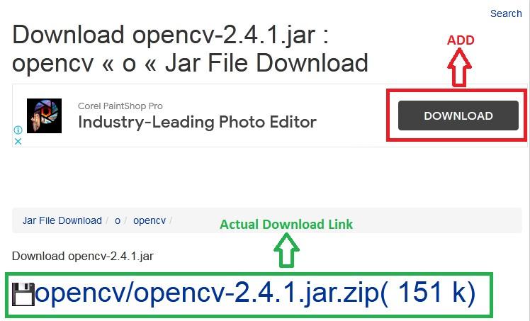 Actual Download Link vs. Fake Download Link