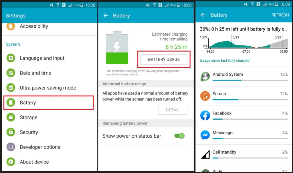 fix extreme battery drain android