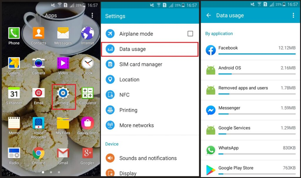 How to tell if your android is hacked how to fix it- data usage