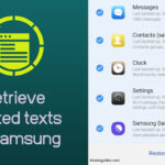 Retrieve deleted texts on Samsung