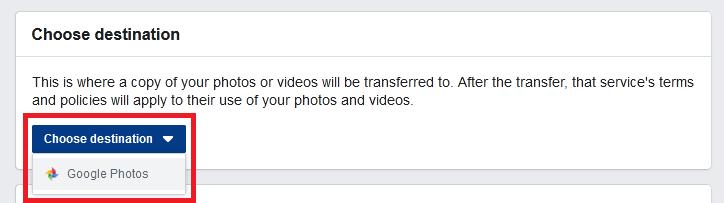 how to backup facebook photos to google photos