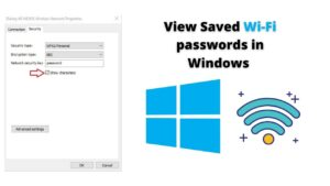 How to View Saved WiFi passwords in Windows 10